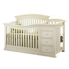 Sorelle Verona Crib and Changer - French White