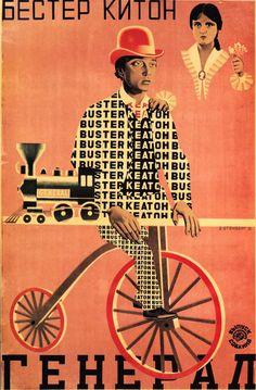 cartaz: O General (1927) - irmãos Stenberg - construtivismo russo