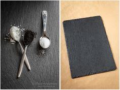 Schieferplatte als Hintergrund für Food-Fotografie