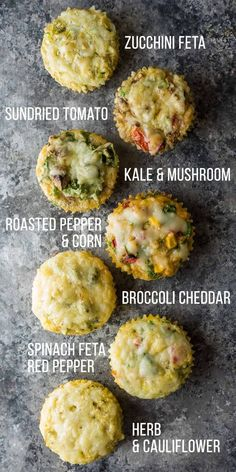 Healthy breakfast egg muffins make a delicious low carb savory breakfast or snack on the go! 7 different vegetable-filled flavors to prep ahead and stock your freezer. #mealprep #breakfast #eggs #eggmuffin #lowcarb