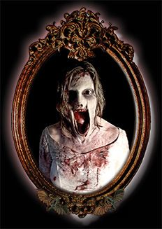 The ever so horrifying Scary Mary Mirror Halloween prop.