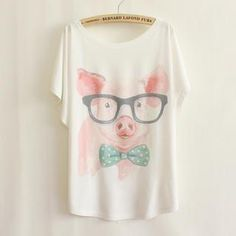 Buy 'LULUS – Pig-Print Loose-Fit T-Shirt' with Free International Shipping at YesStyle.com. Browse and shop for thousands of Asian fashion items from Taiwan and more!