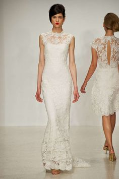 What Type of Wedding Dress Should You Get? All-Lace Dress - You don't like to rock the boat with daring cuts or shapes. You do like timeless looks that run little risk of embarrassing you when you page through your wedding albums in decades to come. The lace dress is girlie without feeling too much like a fairy-tale princess and looks equally at home on the beach or a country club, making it a good choice for anyone who doesn't want the dress to dictate the venue.