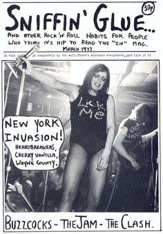 Buzzcocks, The Jam, The Clash, The Heartbreakers, Cherry Vanilla Wayne County