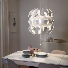 IKEA PS 2014 white, Pendant lamp, 52 cm - IKEA Ikea Ps 2014, Lustre Ikea, Clear Light Bulbs, Baby Room Design, Mood Light, Design Competitions, Hanging Pendants, Led Lamp