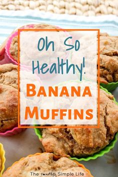 ideas snacks healthy weightloss 100 calories for 2019 Healthy Banana Muffins, Healthy Breakfast Muffins, Breakfast On The Go, Best Breakfast, Banana Breakfast, Quick Healthy Snacks, Healthy Recipes, Healthy Fruits, Healthy Breakfasts