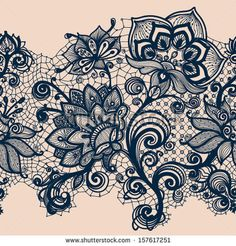 Abstract Lace Ribbon Seamless Pattern Template Frame Design For Card Lace Doily