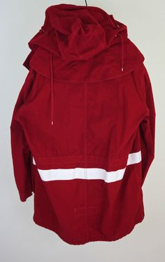 HELMUT LANG AW98 Men Oversize Bloody Red M-51 Hooded Parka Paint Stripe Sz 50 | eBay
