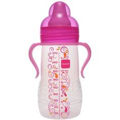 MAM Hold Me Bottle with Handles, 6 Months, 9 Ounce