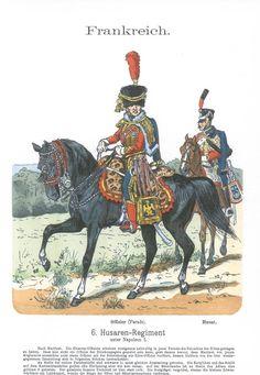 Band XI #55.- Frankreich. 6. Hus. Rgt. unter Napoleon I.