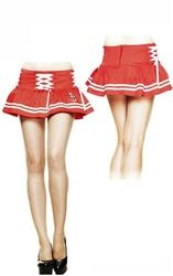 Hell Bunny Motley Red Mini Skirt