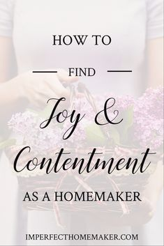 Do you want more joy and contentment in your role as a homemaker? Finding it is really more simple than you might think! Christian Homemaking, Christian Parenting, Prayer For Our Children, Christ Centered Marriage, Virtuous Woman, Proverbs 31 Woman, Christian Resources, Family Rules, Parenting Articles