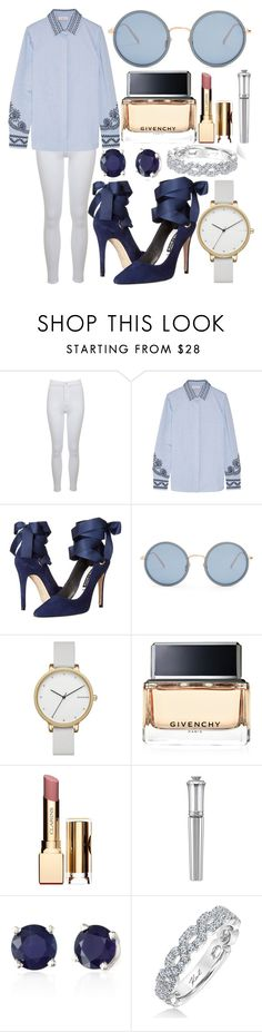 """Untitled #347"" by larryisrealforever ❤ liked on Polyvore featuring Miss Selfridge, Tory Burch, Alice + Olivia, Linda Farrow, Skagen, Givenchy, Clarins, Morgan Lane, Effy Jewelry and Karl Lagerfeld"