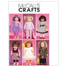 Clothes and Accessories for 18 Doll-One Size Only Patternnull