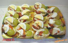 Jednohubky s nivou. Hot Dogs, Ethnic Recipes, Food, Essen, Meals, Yemek, Eten