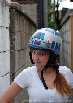 R2-D2 Helmet by Jenn Hall |Gadgetsin    REALLY MLB?   LOOK WHO IT'S BY-  JENNIPHER