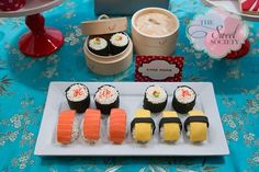 Here is an idea for the little one involved in martial arts... a Japanese sushi themed party!!