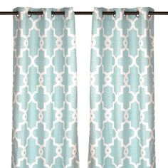 Aqua Maxwell Curtain Panel Set 84 In