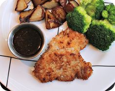 Panko Pork with Apricot Dipping Sauce - Try with chicken