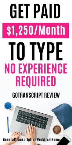 Transcription Jobs for Beginners With GoTranscript - No Experience Required - Work from Home Jobs, Online Jobs & Side Hustles Typing Jobs From Home, Work From Home Careers, Online Jobs From Home, Work From Home Business, Work From Home Opportunities, Work From Home Tips, Home Jobs, Business Ideas, Online Work
