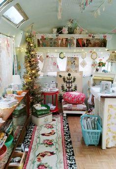 pop-up store in a vintage camper . via dottie angel
