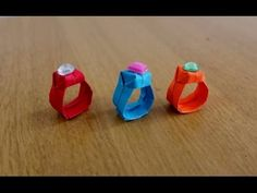 How to make an Easy Paper Ring ~ Origami Ring ~ Tutorial ~ Step by Step Instructions ~ DIY .... - YouTube