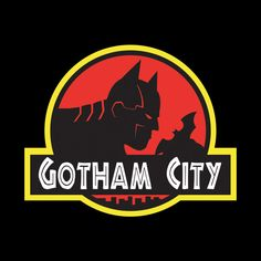 gotham city, Jurassic Park syle, by Alexander Sornoso Gotham City, Catwoman, Batgirl, Nightwing, Batman Shirt, Im Batman, Batman Stuff, Batman Poster, Bruce Timm