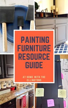 The products I use to refinish and restore furniture and kitchen cabinets.