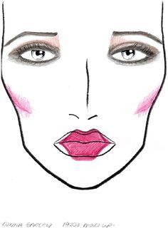 My 1920s make up design