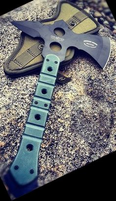 Fox USMC Knives ATC02 Small ATC Commanche Fighting Tomahawk Axe with Green G-10 Handles