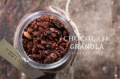 Let's make our mornings sweet like CHOCOLATE GRANOLA.