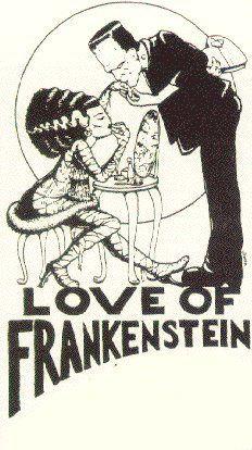 The playbill from Steven Otfinoski's Love of Frankenstein (1979), artist unknown