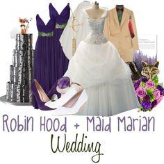 Robin Hood and Maid Marian Wedding Disney Inspired Wedding, Disney Wedding Dresses, Disney Inspired Fashion, Disney Dresses, Princess Wedding Dresses, Wedding Gowns, Disney Fashion, Disney Weddings, Prom Dresses