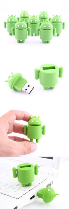 Green Robot USB Drive  http://www.usbgeek.com/products/green-robot-drive