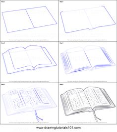 sketches step by step How to Draw an Open Book printable step by step drawing sheet drawing tutorials 101 - Drawing Tutorial Drawing Practice, Drawing Skills, Drawing Lessons, Drawing Techniques, Drawing Tips, Drawing Reference, Drawing Sketches, Sketching, Drawing Drawing