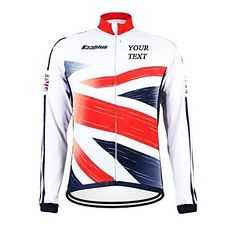 KOOPLUS Unisex Spring Autumn Customized Cycling Clothing Britain Long Sleeve Cycling Jersey , Text Color 5-Font 3 *** Learn more by visiting the image link.