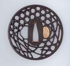 Tsuba with design of basketwork  Japanese, Edo Period, 18th century , MFA