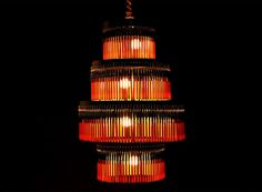 BIC BALLPOINT PEN CHANDELIER Volivik Lamp by En Pieza, Ballpoint Pen Chandelier, Recycled pen lamp, recycled pen chandelier - Gallery Page 0...