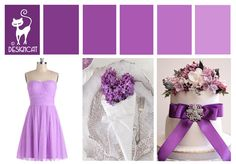 Purple - Pinky Lilac - wedding inspiration Colour Board - By Designcat