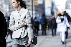Laura Love during Mercedes New York Fashion Week Fall WInter 2015.