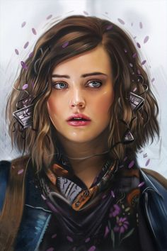 Katherine Langford (Hannah Baker) Title : Tapes (Original File's on print ! DPIWacom Intous Pro 5 + PSWhy would a dead girl lie . 13 Reasons Why (Netflix TV Series) Illustration 13 Reasons Why Fanart, 13 Reasons Why Reasons, 13 Reasons Why Netflix, 13 Reasons Why Lockscreen, Ross Butler, Netflix Tv, Shows On Netflix, Serie Du Moment, Citations Film