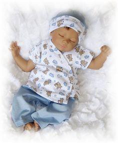 Preemie Boy's Yoga Pant, Wrap Shirt & Hat by SeylaRaine