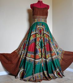 Earthy Love Long African Maxi Dress Ooak by BarefootModiste African Dresses Plus Size, African Maxi Dresses, Bohemian Gown, African Dashiki, Gypsy, Everyday Dresses, Lace Tops, Earthy, Dress Skirt
