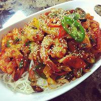 Korean Spicy Stir-fried Shrimp with Somyeon Written Recipe - Asian at Home