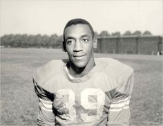 Bill Cosby as a college fullback for the Temple Owls - 1961