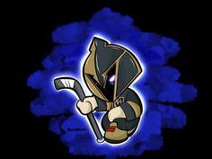 Golden Knights Hockey, Vegas Golden Knights, Hockey Teams, Ice Hockey, Cartoon Styles, Penguins, Nerd, Seasons, Funny Hockey