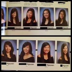 All share the last name Nguyen, and check out their senior quotes. Proud to say I'm graduating with these creative ladies :)