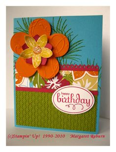 Tropical Birthday Card Paper Goodies Pinterest Cards Card