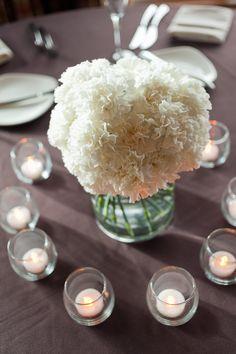 White Carnation Centerpieces