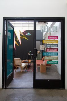 Open your studio office up to the other room with clear glass doors from ETO Doors.